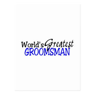 Negro azul del padrino de boda de Greastest de los Tarjetas Postales