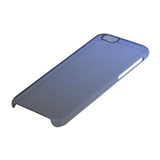 Negro azul real Ombre Funda Transparente Para iPhone 6/6S