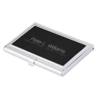 negro básico particular cajas de tarjetas de presentación