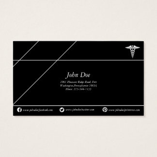 Negro/blanco de cobre médicos del logotipo de la tarjeta de negocios