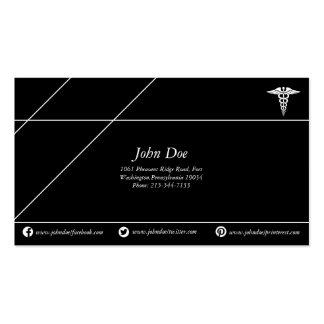 Negro/blanco de cobre médicos del logotipo de la tarjetas de visita