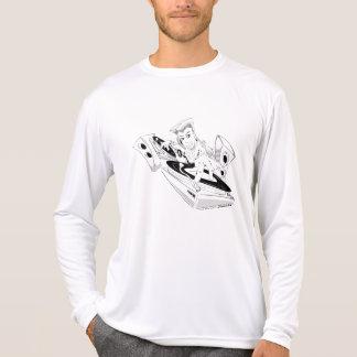 Negro/blanco de DJ de la escuela vieja Camiseta