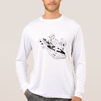 Negro/blanco de DJ de la escuela vieja Camisetas