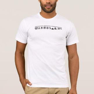 Negro blanco de la balanza camiseta