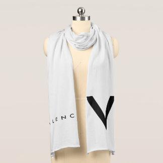 """Negro/blanco de la bufanda de Valencia """"V"""""""