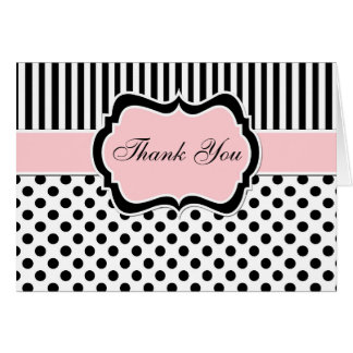 Negro, blanco, ruborícese rosado le agradecen tarjeta pequeña