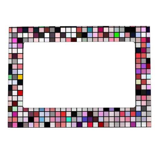 Negro, blanco y modelo de los cuadrados de los ton marcos magnéticos para fotos