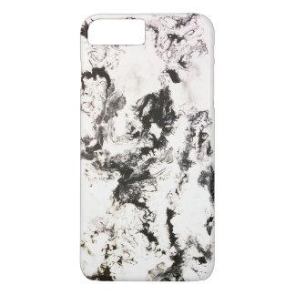 Negro, blanco y plata funda iPhone 7 plus