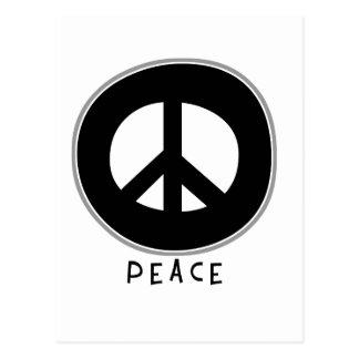Negro casual del signo de la paz tarjetas postales