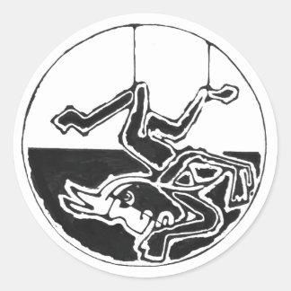 Negro colgado del hombre - pegatina de México que
