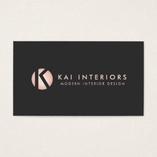 Negro color de rosa moderno del diseñador del tarjeta de negocios