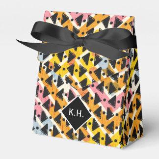 Negro colorido del amarillo de la armadura de la caja para regalos