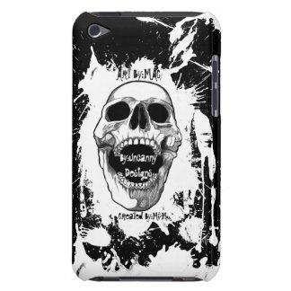 Negro con la salpicadura blanca Speck® Fitted™ Har iPod Touch Cobertura