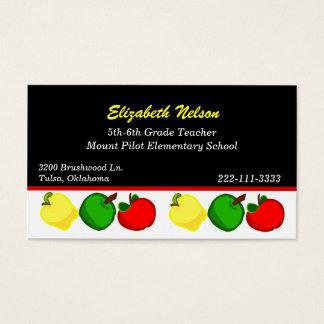 Negro con la tarjeta de la visita del profesor