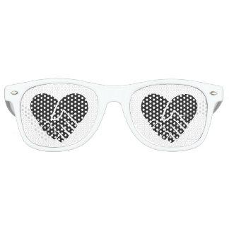 Negro conectado amor gafas de fiesta retro