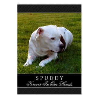Negro conmemorativo de la tarjeta del perro - no tarjetas de visita grandes