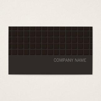 Negro cuadrado moderno del modelo de la cadera tarjeta de negocios