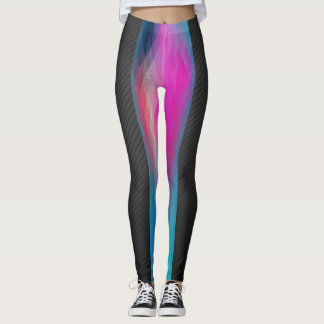 negro de 2 del tono polainas del diseño geométrico leggings