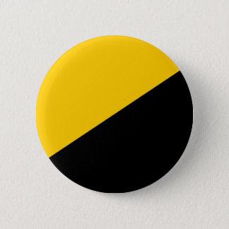 Negro de Anarcho y amarillo capitalistas Chapa Redonda De 5 Cm