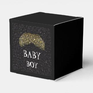Negro de Bling/caja del favor de fiesta del bigote Caja De Regalos
