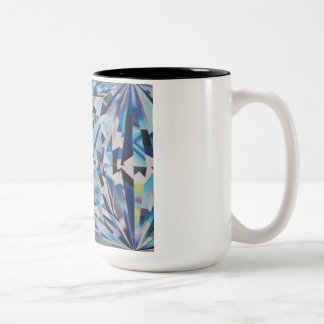 Negro de cristal del diamante taza del Dos-Tono de