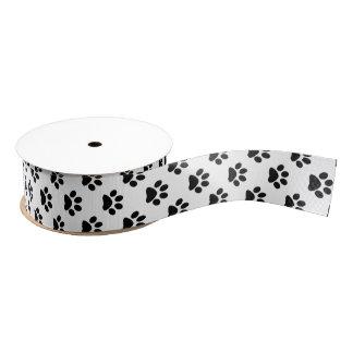 Negro de DIY en la huella blanca del gato/del Lazo De Tela Gruesa