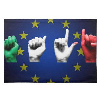negro de Italia Europa Salvamanteles