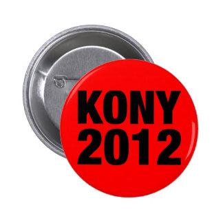 Negro de Kony 2012 en rojo Pins