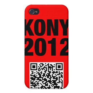 Negro de Kony 2012 en rojo iPhone 4 Protectores