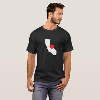 Negro de la camiseta el | del amor de California