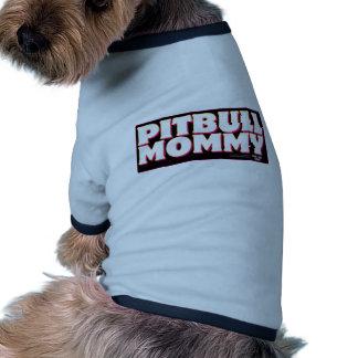 Negro de la MAMÁ de PITBULL Camisas De Mascota