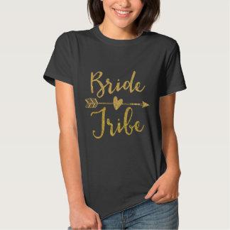 Negro de la tribu de la novia camiseta