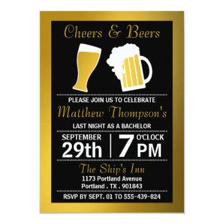 Negro de las alegrías y de las cervezas y invitación 12,7 x 17,8 cm