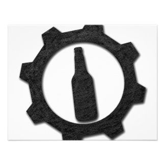 Negro de las cervezas comunicado personalizado