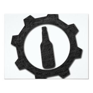 Negro de las cervezas invitación 10,8 x 13,9 cm