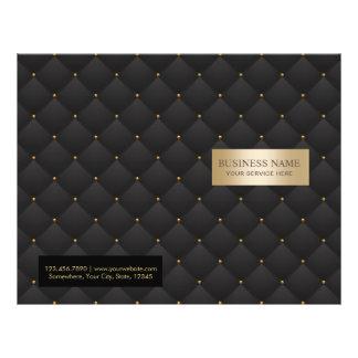 Negro de lujo del salón de belleza y BI-Doblez Flyer