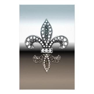Negro de plata de Flor New Orleans de la flor de l Papeleria