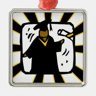 Negro de recepción graduado y oro del diploma (1) ornamento para reyes magos