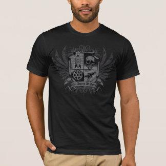 Negro de Steampunk - por el anuncio Astra de Camiseta