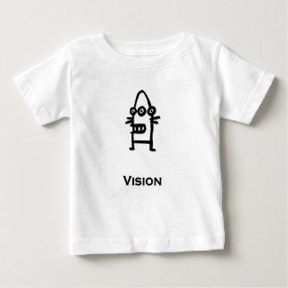 Negro de Vision del Bot de tres ojos Camiseta