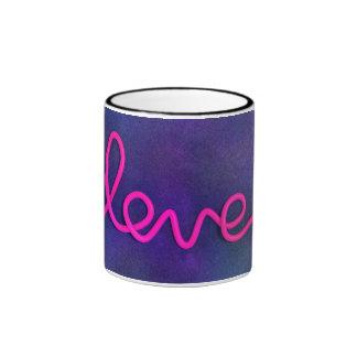 Negro del amor taza del campanero de 11 onzas