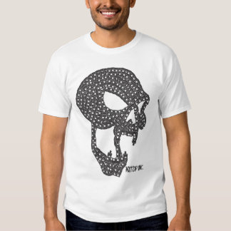 Negro del cráneo del vampiro del casquillo camiseta