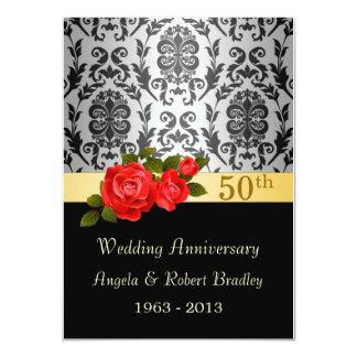 Negro del damasco, aniversario de boda del rosa comunicados