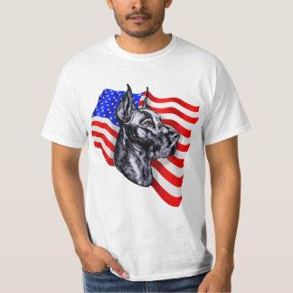 Negro del danés del patriota camiseta