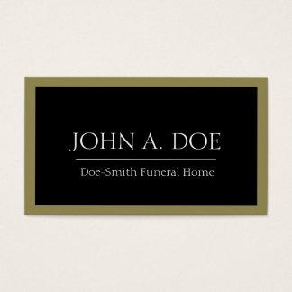 Negro del director de funeraria/frontera del oro tarjeta de negocios
