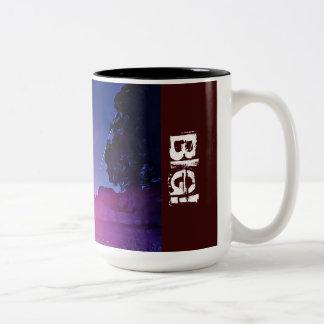 Negro del diseñador taza del Dos-Tono de 15 onzas