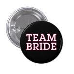 Negro del esquema del rosa de la novia del equipo chapa redonda de 2,5 cm