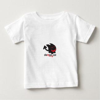 negro del gato del demonio camiseta de bebé