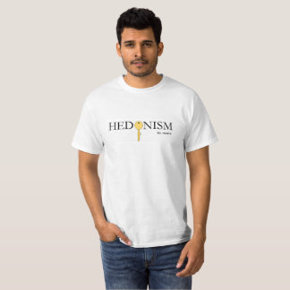 Negro del hedonismo y camiseta original del oro