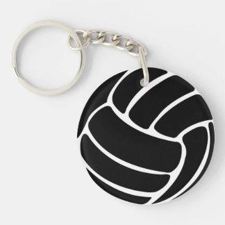 Negro del llavero w/Name del voleibol